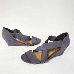 Deflex Comfort Gray Fabric Wedges Women's 8.5